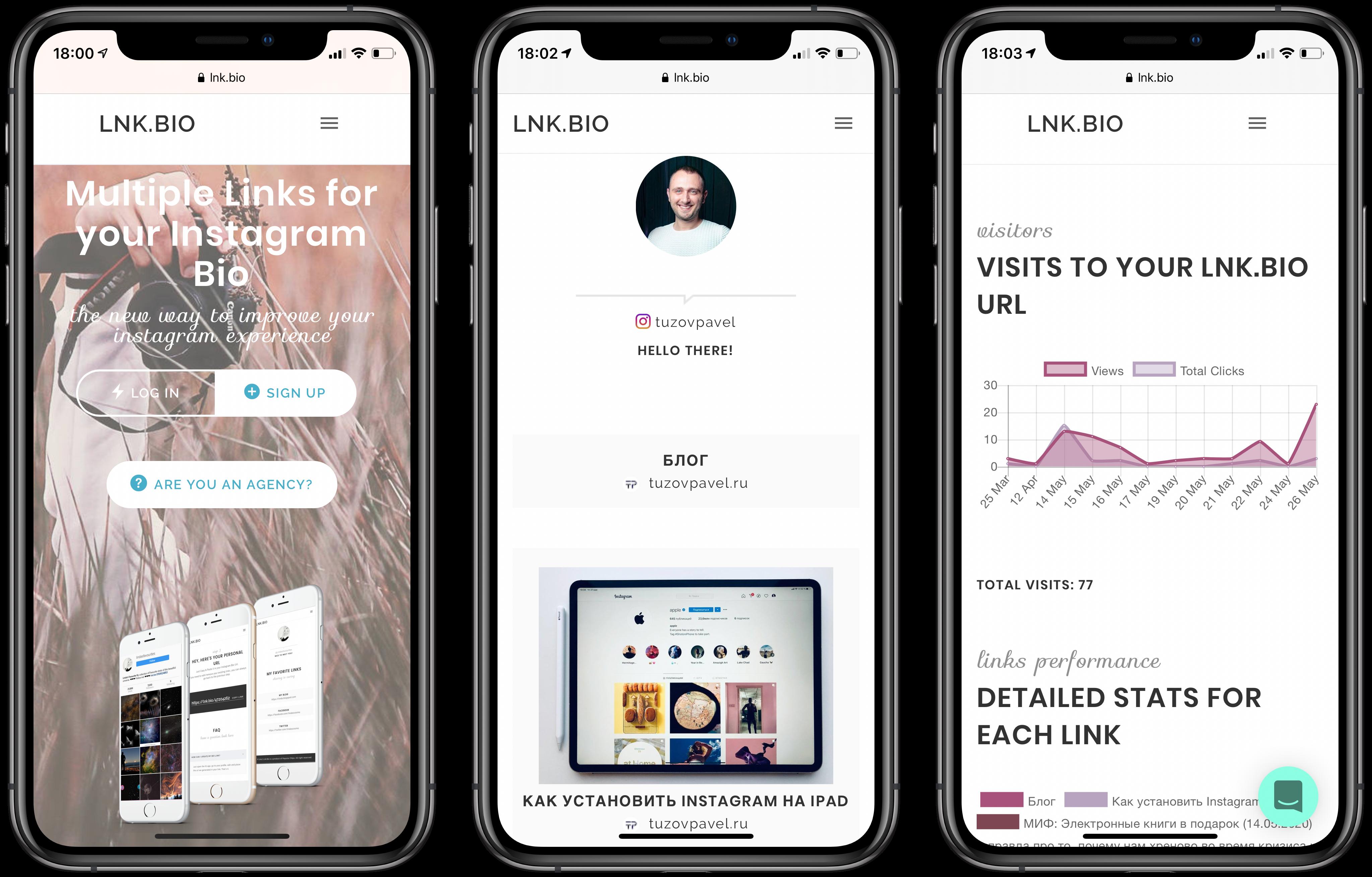 Lnk.Bio – Лучший сервис для создания мультиссылок в Instagram в шапке профиля
